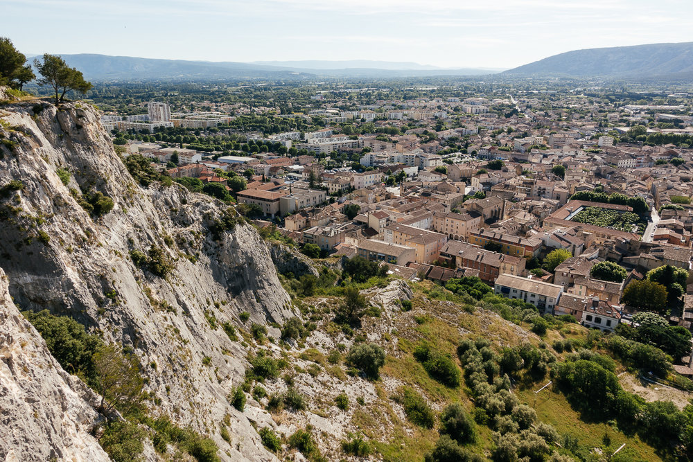 View from St. Jacques Hill in Cavaillon, France.