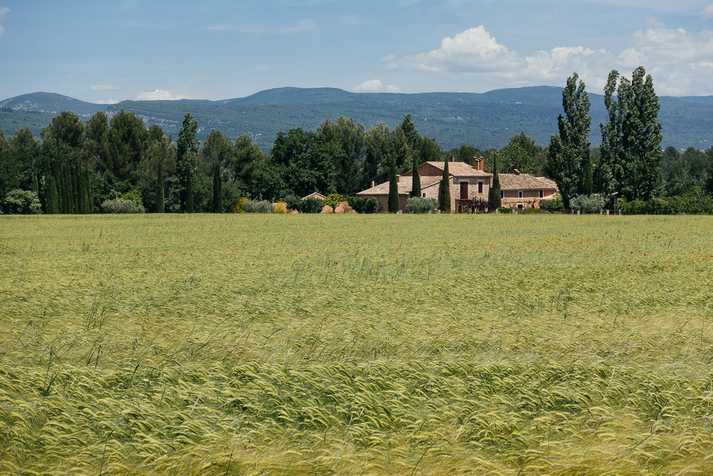 Farm near Roussillon, France.