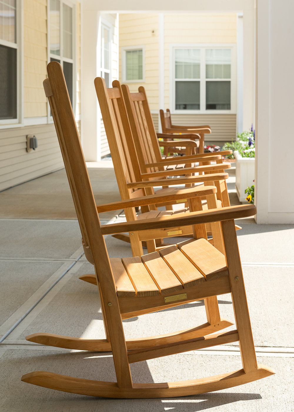 Rocking Chairs To Enjoy The Summer Sun.