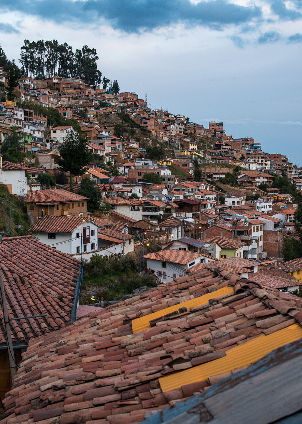 Cusco rooflines.