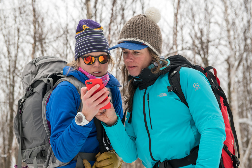 Kit and Hilary McCloy of  Backcountry Bliss Retreats  reviews the trail route.