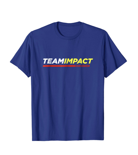 Team Impact Alternate Logo - Sport the Team Impact logo and choose from five colors. Lightweight, classic fit, Double-needle sleeve and bottom hem