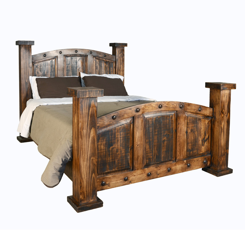 RUSTIC MANSION BED $599