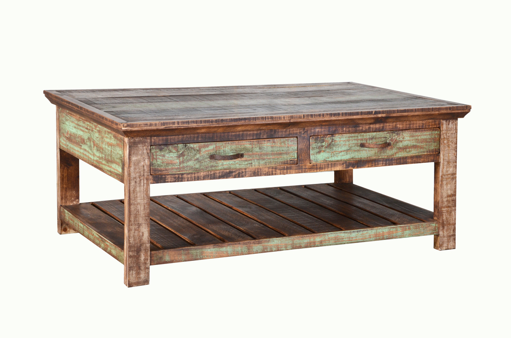 Coffee end tables the rustic mile for Rustic coffee table