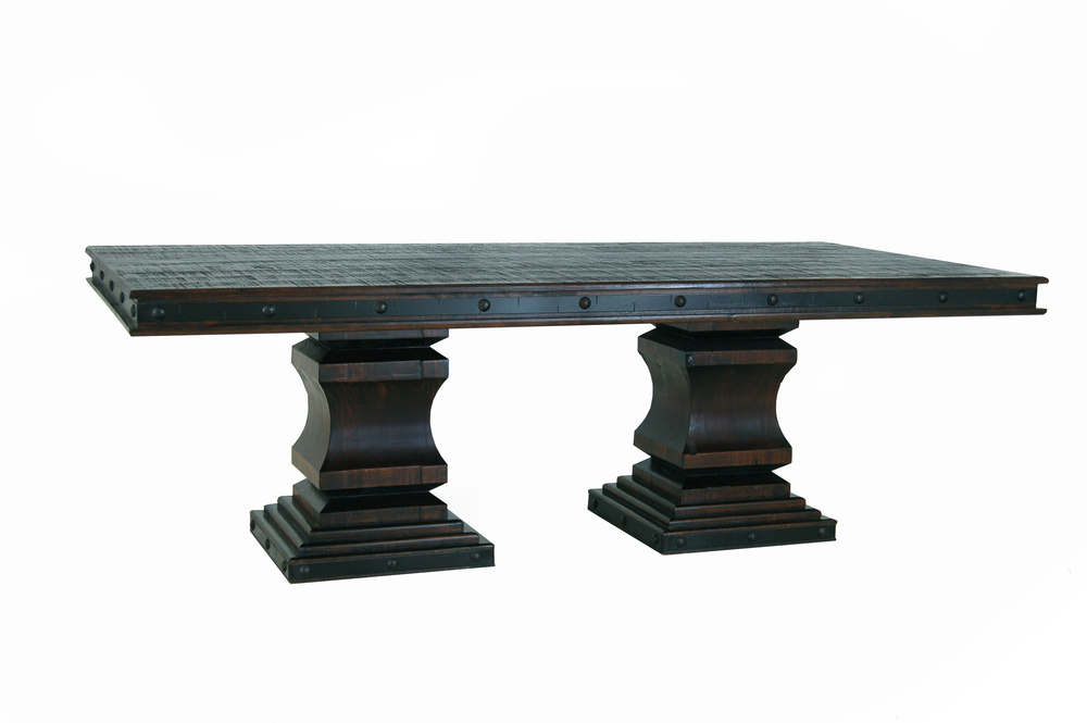 GRAND HACIENDA 7 FT. DOUBLE PEDESTAL TABLE $999
