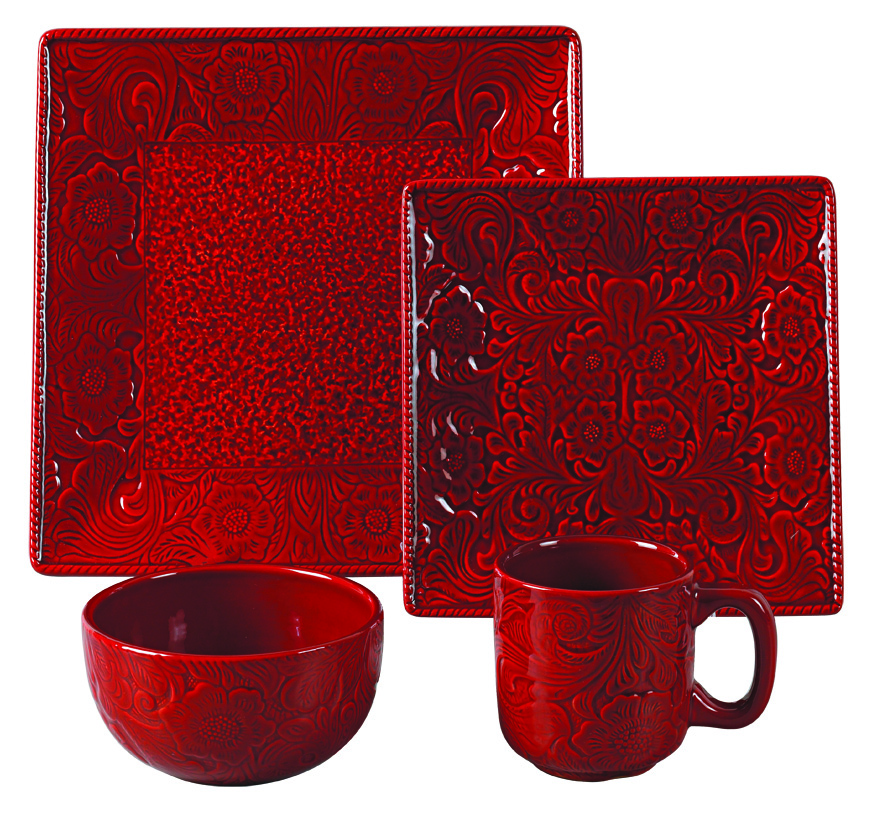 RED SAVANNAH DINNERWARE