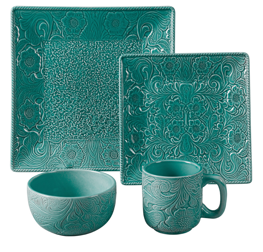 TURQ. SAVANNAH DINNERWARE
