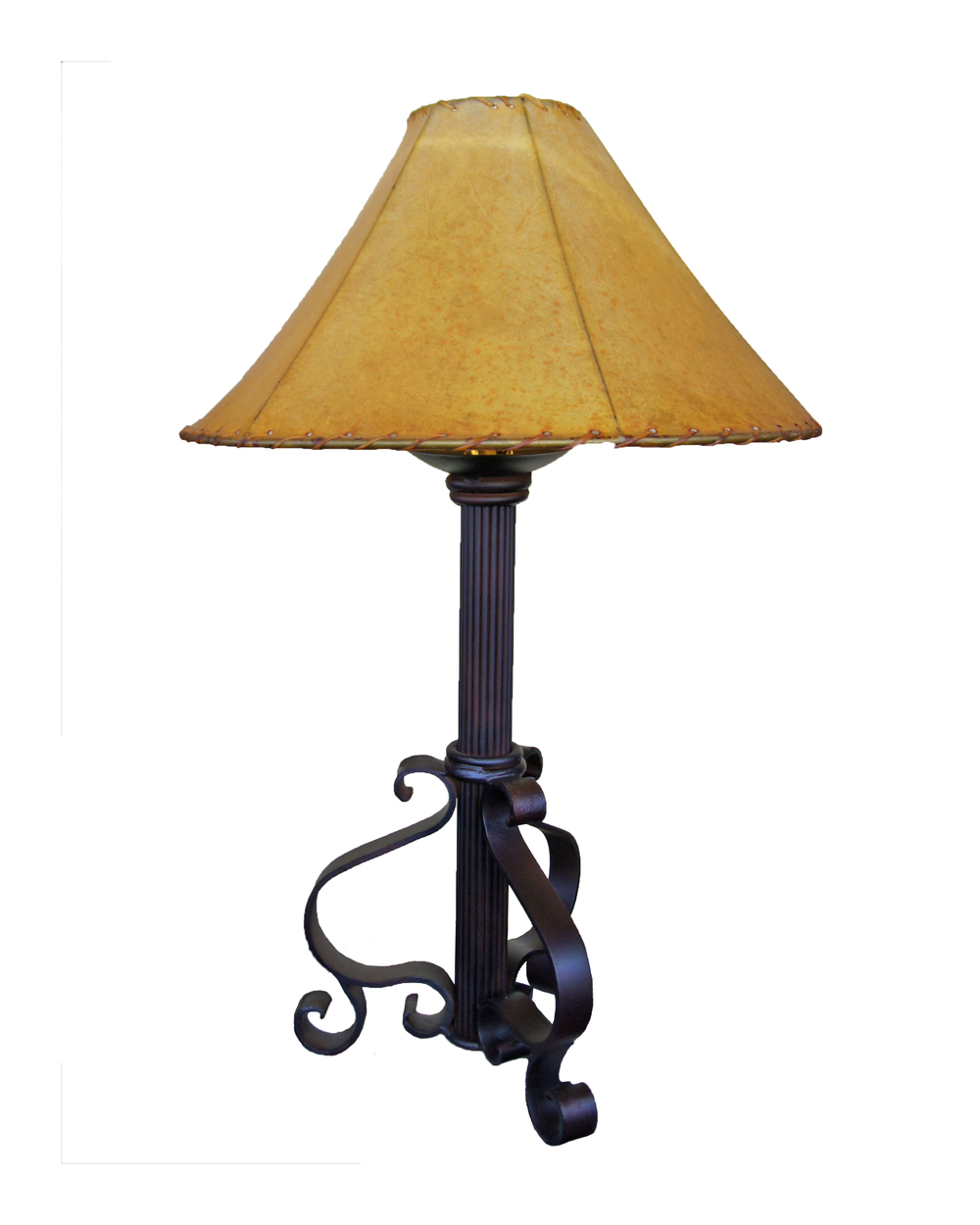 HEAVEY FORGED IRON LAMPS