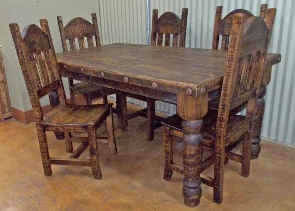 Dining sets the rustic mile - Houston dining room furniture ideas ...