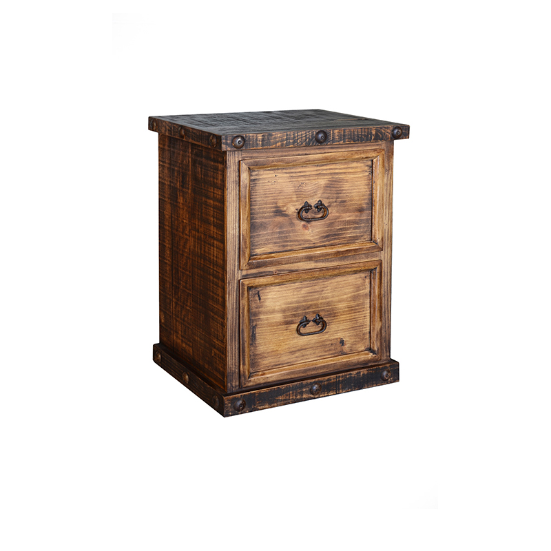 RUSTIC 2 DRAWER FILING CABINET  $249