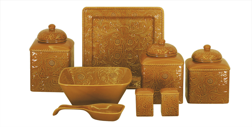 mustard SAVANNAH DINNERWARE accessories