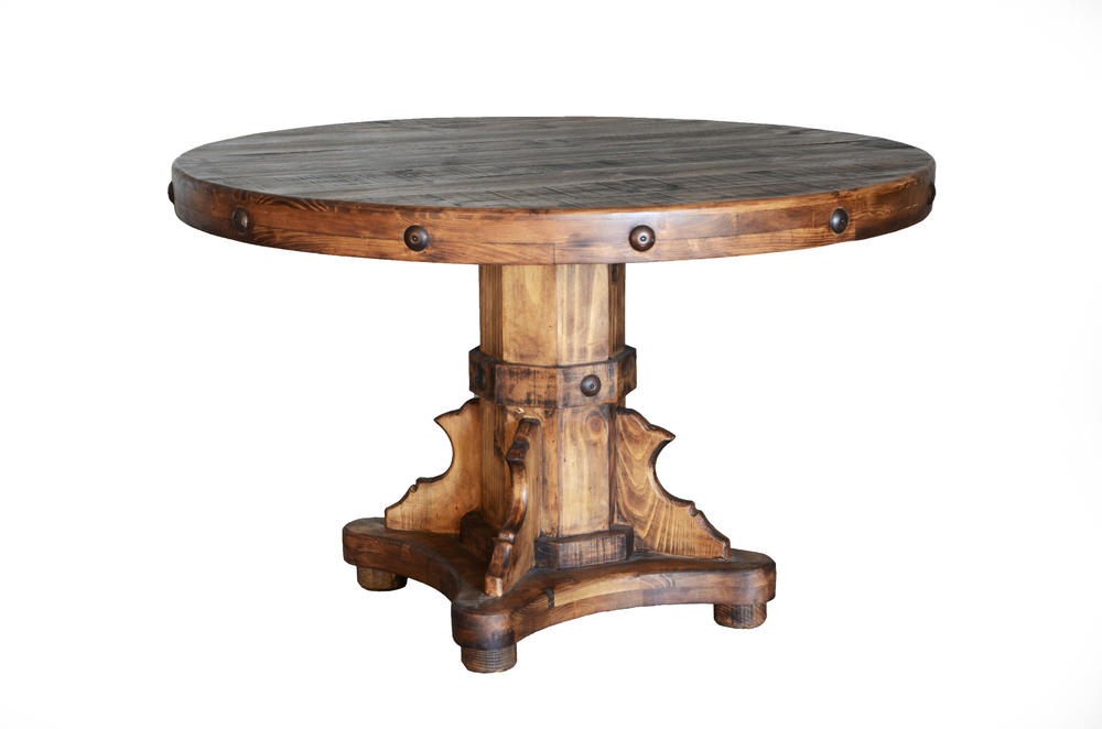Rustic Round Dining Table For 8 dining sets — the rustic mile