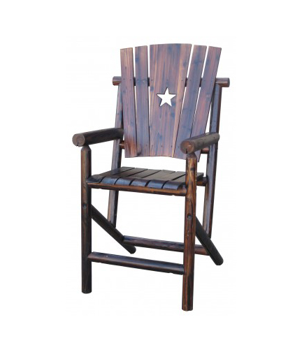 CHAR LOG PUB CHAIR $189