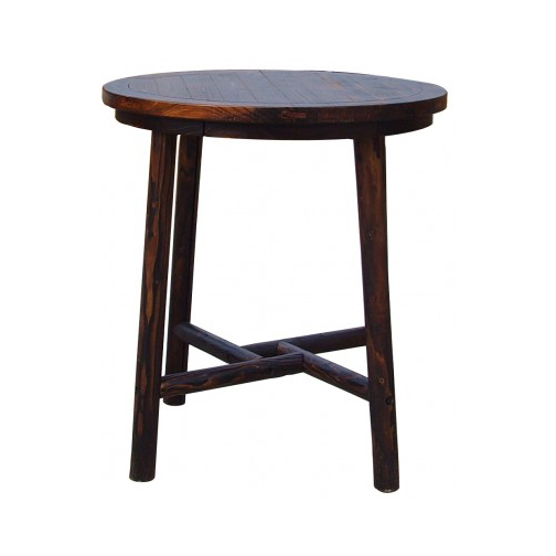 CHAR LOG PUB TABLE WITH 2 CHAIRS $489