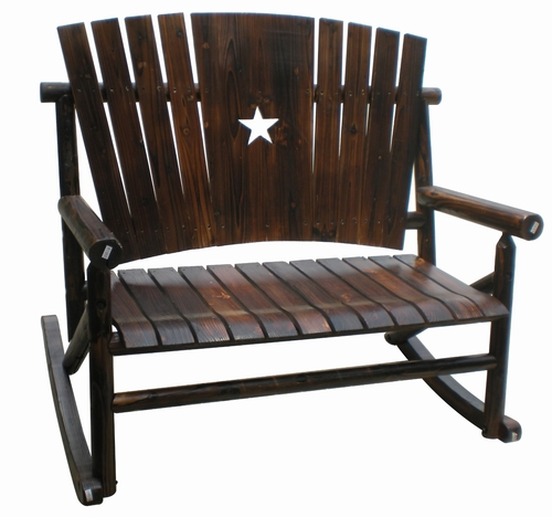 Marvelous Char Log Double Rocker With Star
