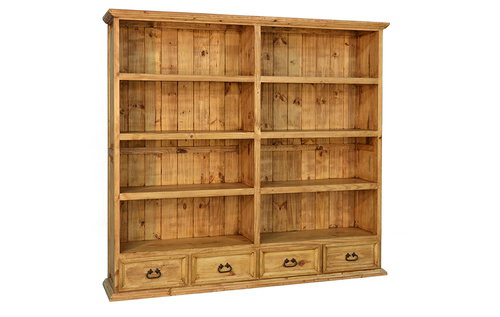 4 DRAWER DOUBLE BOOKCASE $499