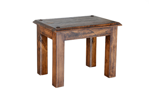RUSTIC END TABLE  $129