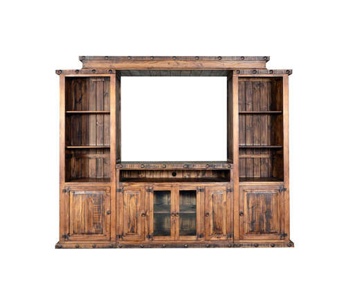 RUSTIC ENTERTAINMENT CENTER $999