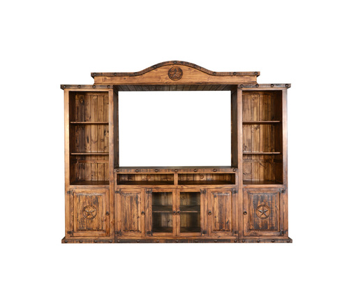 LARGE RUSTIC ENT CTR WITH STARS $1199