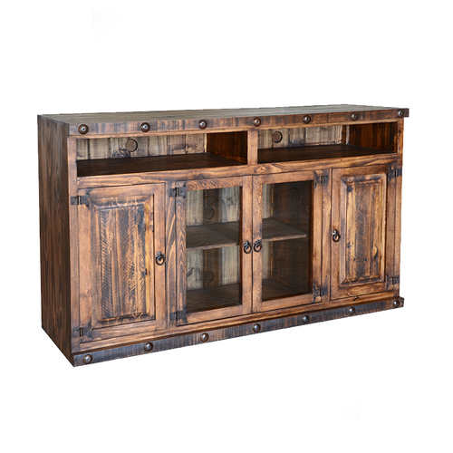 "LARGE RUSTIC 60"" ENT CONSOLE $499"