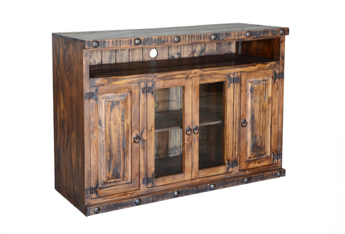 "RUSTIC 50"" ENT. CONSOLE    $399"