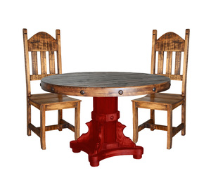 RUSTIC ROUND TABLE SET $949
