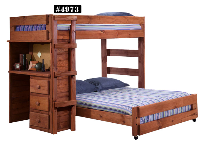 TWIN OVER FULL BUNK BED WITH DESK $699