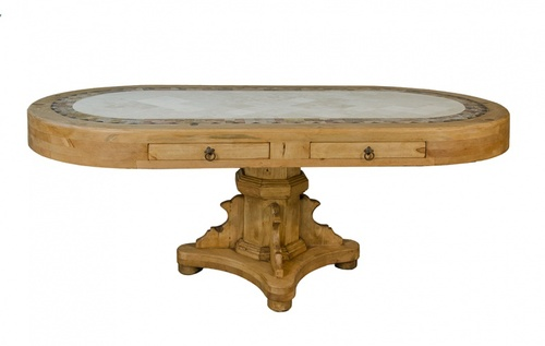 OVAL MARBLE TOP TABLE  $749