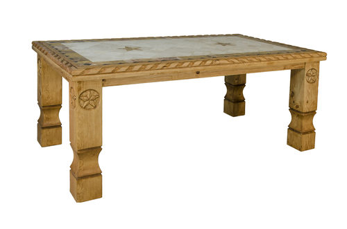 MARBLE COWBOY TABLE ROPE/STARS $735