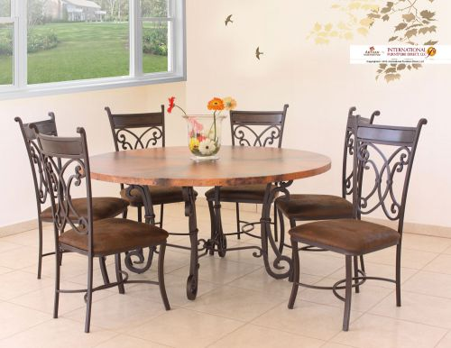 COPPER TABLE SET $1999