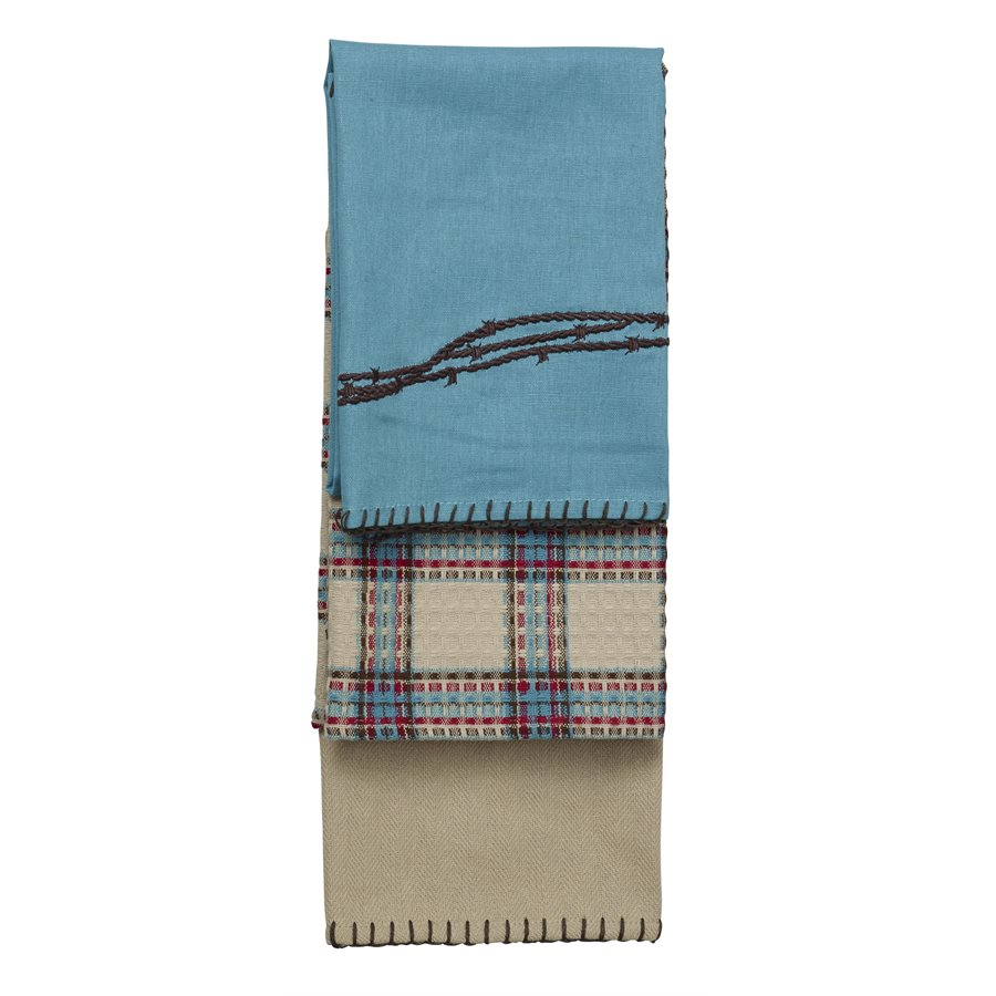 BARBWIRE TOWELS $21.99