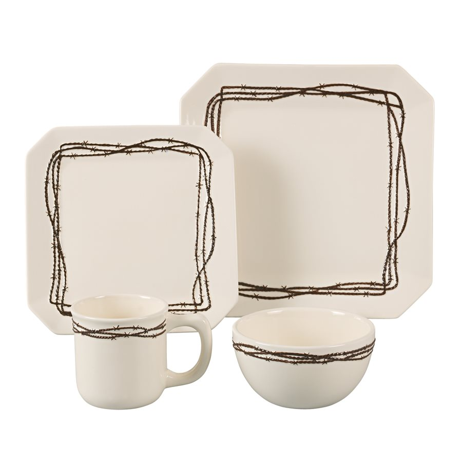 BARBWIRE DINNERWARE $149