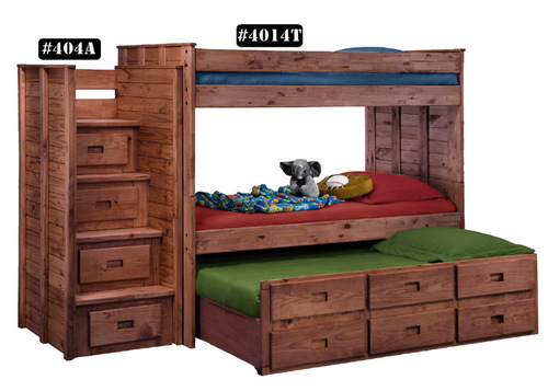 TWIN OVER TWIN WITH TRUNDLE     $739