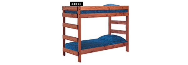 TWIN OVER TWIN BUNK BED              $299