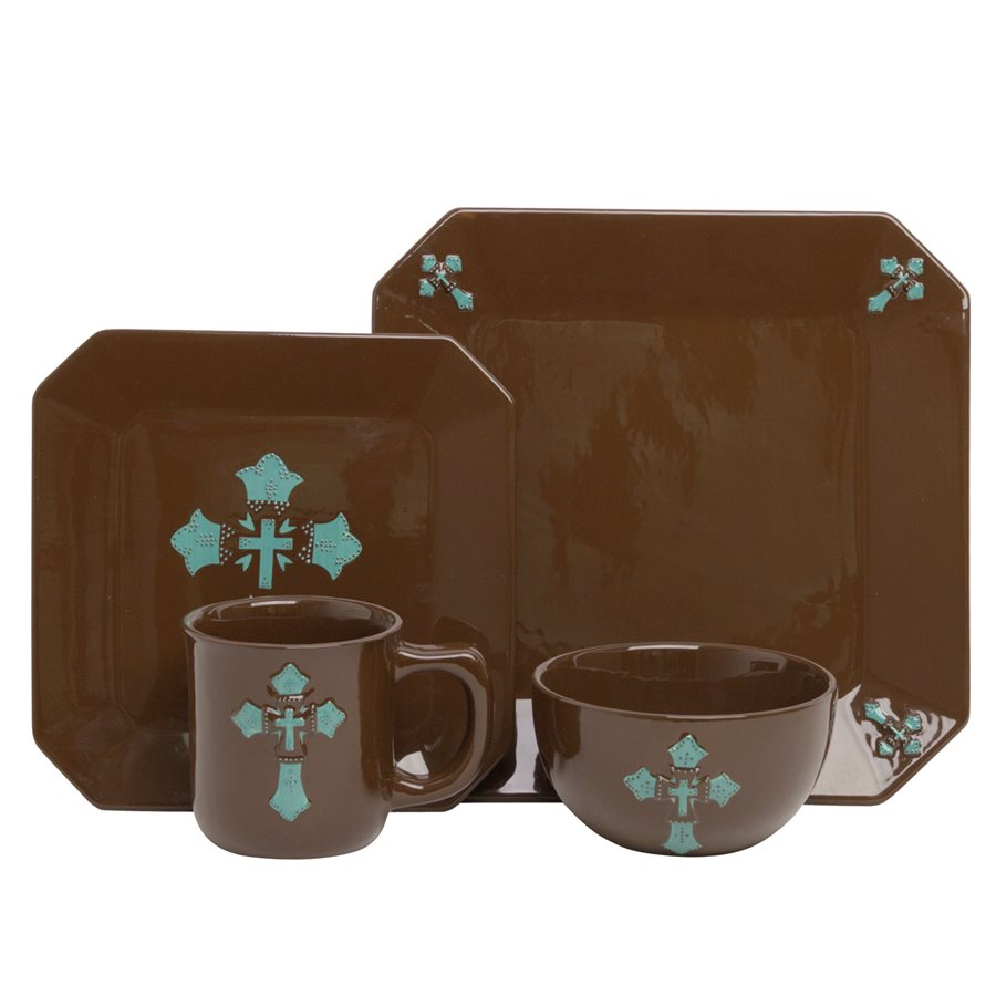 Star Dinnerware Set  sc 1 st  The Rustic Mile & DI3182-CROSS-DINNERWARE u2014 The Rustic Mile