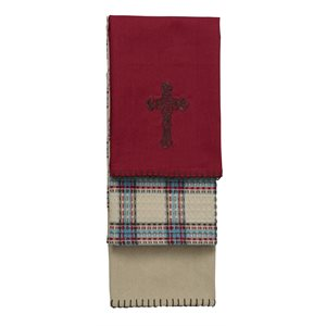 CROSS KITCHEN TOWELS $42