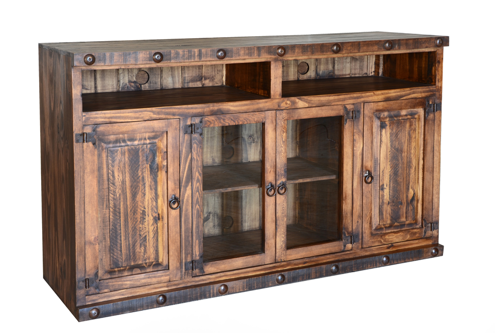 "LARGE 60"" RUSTIC TV CONSOLE  $499"