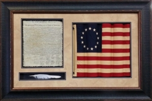 BETSY ROSS FLAG W/ QUILL              $339