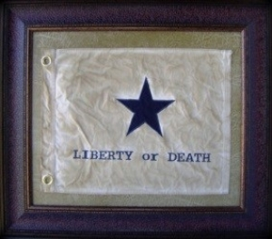 LIBERTY OR DEATH SMALL FLAG $109