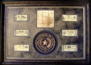 REPUBLIC OF TEX $229 AS MAP, ETC.