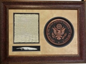 US DECLaration W/ SEAL AND QUILL $229