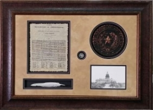 TX DECLARATION OF INDEPENDENCE W/ SEAL AND QUILL $229