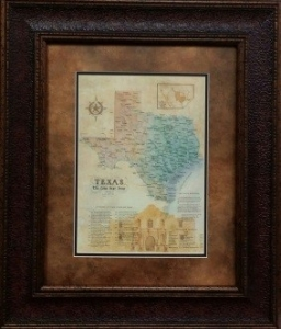 REPUBLIC OF TEXAS MAP $169