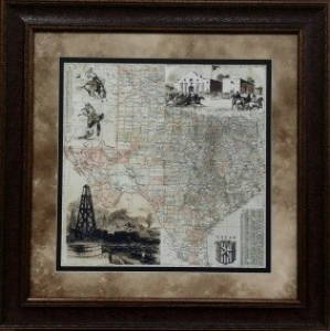 ANTIQUE MAP OF TEXAS $129