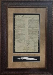 US CONSTITUTION W/ QUILL$109