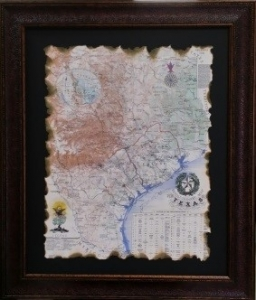REPUBLIC OF TEXAS MAP 1845 $169
