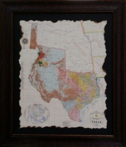REVOLUTIONARY TEXAS MAP $159