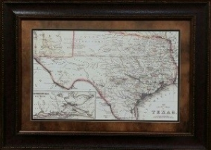 county map of texas $159