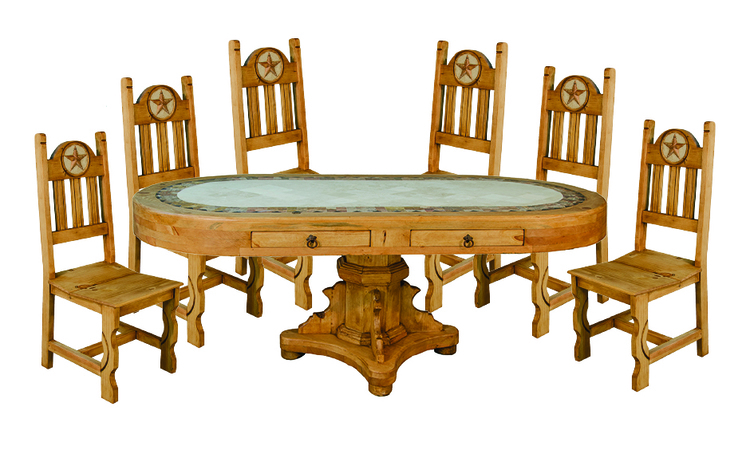 OVAL MARBLE TABLE SET