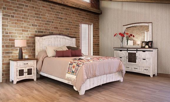 WHITE PUEBLO BED